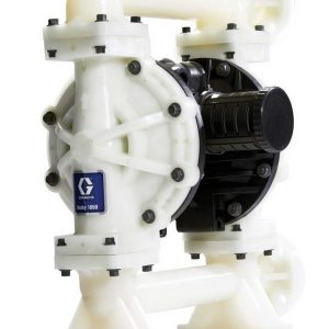 Husky 1050 Polypropylene Pump, End Flange, Pulse Count Polypropylene Ctr Section, S/S Seats, S/S Balls & PTFE Overmolded Diaph