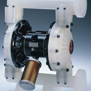 Husky 1590 PVDF Pump, Stainless Steel Center Section, Polypropylene Seats, PTFE Balls & PTFE Overmolded Diaphragm